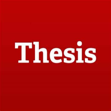 Writing two senior thesis